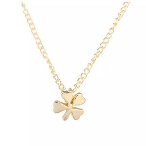 Jewelry - Lucky Four leaf clover 🍀 gold necklace NWT